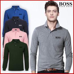 Commercio all'ingrosso 2018 autunno e inverno nuovo di alta qualità 100% cotone moda maschile a maniche lunghe POLO shirt uomo casual POLO camicia a maniche lunghe in Offerta