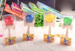 $enCountryForm.capitalKeyWord Australia - DHL Fedex Free New Big size 18*6cm Kendama Ball Japanese Traditional Wood Game Toy Education Gift Children toys