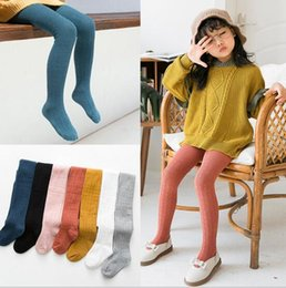$enCountryForm.capitalKeyWord Australia - INS Spring girl clothing pants Candy color leggings pants 100% Cotton Knitted Bottomed pantyhose for 1-7T girl dance clothing leggings