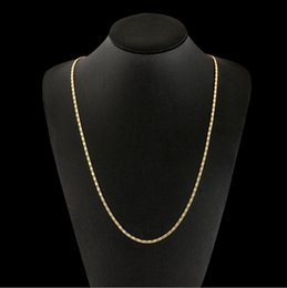 $enCountryForm.capitalKeyWord Australia - 2mm Thin Chain Necklace 40-75cm 16-30inch for Women Men 925 18 k Gold Color Hot Sale Embroidery Jewelry Lead and Nickel Free