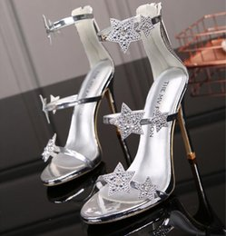 $enCountryForm.capitalKeyWord Australia - New European Designer women high heels glitters Rhinestone party fashion girls sexy prom shoes T-stage Dance Show shoes sandals women shoes