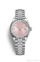 Luxury watch asia movement online shopping - 2019 Quality Watches Maker Vintage Woman pink color mm dat Asia Movement Automatic mechanical ladies watch