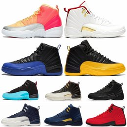 panda canvas shoes NZ - Jumpman 12 Panda Black White FIBA Reverse Taxi Game Royal 12s Basketball Shoes Winterized CNY Michigan Gym Red Mens Sport Sneakers Size 13