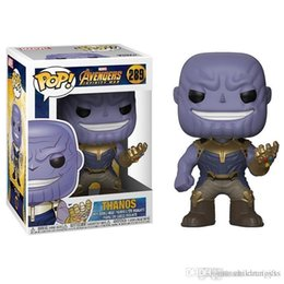$enCountryForm.capitalKeyWord Australia - WHOLESALE Funko Pop Marvel Comics Avengers 3: Infinity War Thanos Vinyl Action Figure Toy Gift