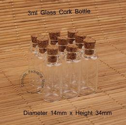 Cork sample bottle online shopping - Promotion ml Glass Small Clear Cork Bottle Mini Vial For Wedding Holiday Decoration Wooden Lid Empty Pot Sample Jar