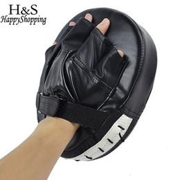 High Gear Training Australia - High Quality 1 Piece Black red Boxing Mitt Mma Target Hook Jab Focus Punch Pad Safety Mma Training Gloves Karate