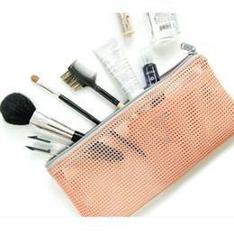 Toothbrush Cosmetic Australia - 2019 New Zipper Makeup Cosmetic Toiletry Travel Wash Organizer Bag Toothbrush Pouch Mesh Bag