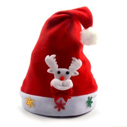 snowman hats for kids 2019 - Kids Christmas Sale Santa Claus Snowman Elk Snowflakes Hats Navidad Natal Hat For Children New Year Natale New Year Gift