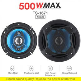 audio piece NZ - 2 Pieces 6 Inch 500W 2 Way Car Coaxial Auto Audio Music Stereo Full Range Frequency Hifi Speakers Non-destructive Installation