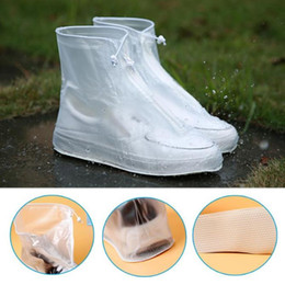 pink rain boots Australia - Waterproof Protector Shoes Boot Cover Unisex Zipper Rain Shoe Covers High-Top Anti-Slip Rain Shoes Cases