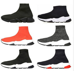 RubbeR shoe half soles online shopping - Designer Socks shoes fashion men women sneakers speed trainer black white blue pink glitter mens trainers casual shoe Runner heavy sole