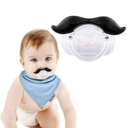 $enCountryForm.capitalKeyWord Australia - Funny Baby Pacifier Dummy Nipple Teethers Novelty Toddler Mustache Pacifier Infant Baby Christmas Gift Teeth Soothers