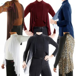 Latin Dancing Suit Australia - Elegant Long-Sleeved Tops New Male Adult Latin Dance Modern Dance Practice Shirt Performance Clothing Competition Suit DWY1116