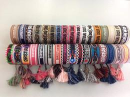 Glow banGles online shopping - 2019 Brand Fashion Jewelry For Women Handmade Cotton Signature Embroidery Bracelet Woven Bangle luxury fabrics Tassel Lace up Bracelet