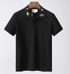 Chinese  designer Mens brand polo t-shirt fashion luxury clothing t shirt embroidery tiger cat snake BEE animal flowers geometry Tshirt tee top manufacturers