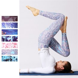 Sexy High Waisted Fashion Pants NZ - Fashion Women Yoga Cropped Pants Digital Print Ankle Length Trousers Sexy High Waisted Leggings Sport Fitness Dance Tights Gym Workout Pants