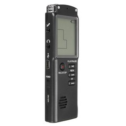 Digital Audio Player 1gb Australia - LCD Digital Audio Voice Recorder Dictaphone Rechargeable MP3 Player With Earphone Built-in Microphone