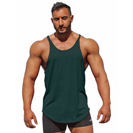 Cross Color Clothing Australia - Summer cross-border explosion new men's clothing Solid color breathable sweat-absorbing elastic vest wholesale free shipping B15