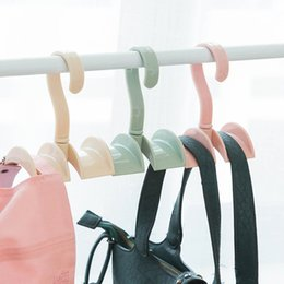 plastic wardrobe bags 2019 - Rotate Wardrobe Bag Rack Clothes Hook Closet Organizer Rod Hanger Handbag Storage Creative Linked Necktie Shelf Hanging