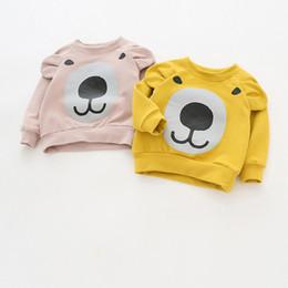 Girls Long Sleeve Cotton T Shirt Australia - Children Brand Baby Girl Clothes 2019 Autumn New Girls Cotton Sweatshirt Long Sleeve Hoodies O-neck Bear Print with Ear T Shirt