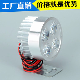 Refitted vehicle online shopping - Electric Vehicle Motorcycle Front The Headlamps Led Four Lamp Beads Electric Vehicle Refit Lamp Lens High Light Factory