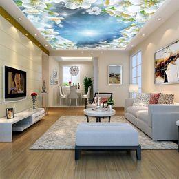 $enCountryForm.capitalKeyWord Australia - 5D space Large ceiling wall coating 3D Beautiful Sky Dove Flower scenery fresh wall paper Living Room Sofa TV Background Mural