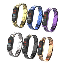 stainless smart watch NZ - Milanese Loop strap For Xiaomi Mi Band 3 4 Stainless Steel For Xiaomi Mi Band 3 4 Strap Wristband Smart Watch Strap For Xiaomi Mi band 4 3