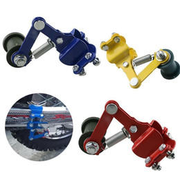 Universal Aluminum Motorcycle Chain Tensioner Adjuster Roller Tools Modified Accessories For Dirt Pit Bike Atv Motocross on Sale