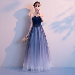 d93da05b812 Sweetheart Chiffon Ombre Dress Australia - New Sexy Ombre Chiffon Prom Dresses  Long A Line Plus