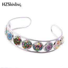 Folk Art Christmas Australia - 2019 New Polish Folk Cuff Bracelet Art Patterns Flowers Bracelets Handmade Photo Glass Dome Jewelry