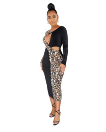 Wholesale amazon printing for sale - Group buy Cowgirl Rodeo westwearkjy Amazon Explosion Models Leopard Print Dress Cross Border Supply of Foreign Trade Independent Station Sexy Dresses