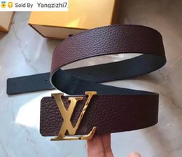 beaded buckles NZ - Letter buckle simple wine red male hang buckle belt Mens Belts For Men Women Belt With Box