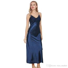ee27387d55 Pigiami di seta Abiti estivi Donna Pigiami sexy Abbigliamento Abiti Pigiama  Abbigliamento da notte Camicia da notte Biancheria intima Home Service ...