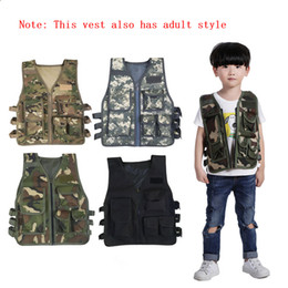 Discount molle gear - Kids Camouflage Molle Tactical Mini Waistcoat Children Outdoor Summer Camp Training Games Armor Plate Protective Gear Ve