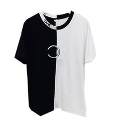 $enCountryForm.capitalKeyWord UK - Europe and the United States summer new color matching T-shirt letters embroidery short sleeve simple casual comfortable ladies half sleeve