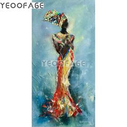 $enCountryForm.capitalKeyWord Australia - 5D DIY diamond painting cross stitch African woman diamond embroidery full square rhinestone mosaic painting home decoration