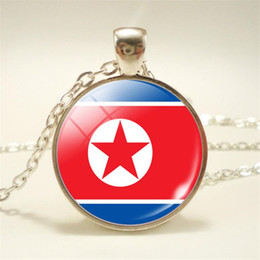 $enCountryForm.capitalKeyWord Australia - Punk Korea National Flag World Time Gem Glass Cabochon Choker For Women Men Minimalist Long Link Sweater Chain Jewelry Pendant Necklace Gift
