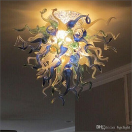 kitchen styles NZ - Free Air Shipping Staircase Spring Style Art Glass Chandelier Europe Designed Handmade Blown Glass Pendant Lights for Kitchen Decor