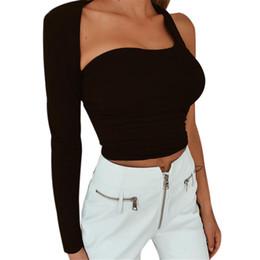 One Shoulder Tees Australia - Summer Women's T-shirts One Shoulder Hollow Out Sexy Kawaii japonais Tee Shirt Clothes 2019 tshirt Harajuku Backing Haut Femme