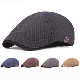 cotton berets for women Australia - HT2446 Beret Vintage Men Women Cap Hat for Spring Autumn Cotton Retro Beret Hat 6 Panel Newsboy Ivy Flat Cap Men Women