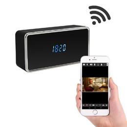 Clock Camera Recorder Australia - Z21 1080P HD Night vision WIFI alarm clock camera Wireless clock video recorder Max 128GB