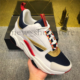 Chinese  2019 New Party Dress Shoes Women Mens Technical Knit Calfskin Sneakers Fashion Sneakers Womens Boutiques Style Luxury Designer Casual Shoes manufacturers