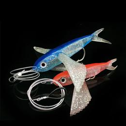 $enCountryForm.capitalKeyWord Australia - 17cm Fly Fish Fishing Lure Sea Fishing Tuna Mackerel Bait with Barbed Hook Big Wings Flying Fish Soft Lure Boat Trolling Fishing Tackle