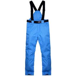 Warm Waterproof Pants Men Australia - Winter Warm Men Waterproof Breathable Pants Autumn Ski Solid Suspenders Casual