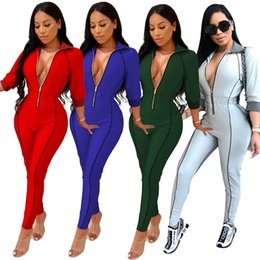$enCountryForm.capitalKeyWord NZ - women designer jumpsuit long sleeve jumpsuit sexy romper elegant fashion skinny jumpsuit pullover zipper comfortable clubwear klw0090