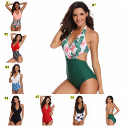 8810553643f36 Sexy womenS SwimSuitS online shopping - Womens Sexy One piece Bikinis  flower Swimwear Tummy Control One