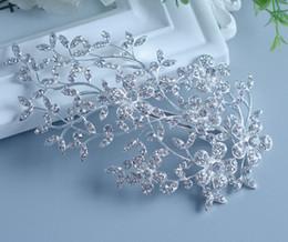 Tiara Bridal Accessories Crown Hair Australia - 2016 Luxury Bridal Combs Tiara Crown Silver Plated Vintage Wedding Hair Accessories Crystal Women Headwear 1pcs Y19051302