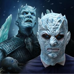 Halloween Games For School Australia - Top grade Game of Thrones Halloween Mask Night's King Walker Face NIGHT RE Zombie Latex Masks Party Masquerade Cosplay Mascara Scary Maske