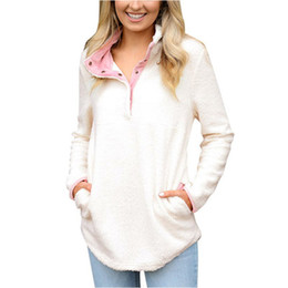 $enCountryForm.capitalKeyWord Australia - New Winter Womens Hoodies Fashion Women's Long Sleeve Fleece Sweatshirt Ladies Warm Zip Solid Fuzzy Hoodie Pullover Female Hot Sale