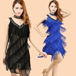 $enCountryForm.capitalKeyWord NZ - costumes cha cha dance tassel sequin fringe women ballroom competition dresses sexy womens latin dress dancing tango for adults